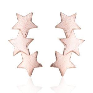 Jewelry - Rose Gold Triple Star Ear Crawler Studs
